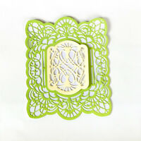 Rectangle Hollow Lace Metal Cutting Dies For DIY Scrapbooking Album Paper Card H