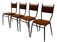 lotto di quattro sedie anni 50 vintage modernariato