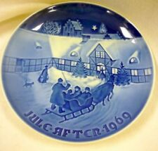 1969 Bing Grondal Arrival Of Christmas Guests Plate Jule After Blue
