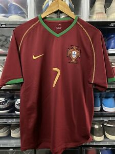 Nike Portugal Luis Figo Home Jersey / shirt World Cup 2006 sz M Mint