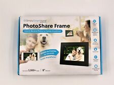 "Simply Smart Home PhotoShare 8"" Smart Photo Frame HD1080P LED Touchscreen Black"
