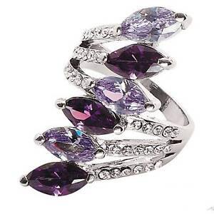 """Park Lane """"ROYALE"""" RING - Purple & Lavender CZs & Crystals - Orig.$88 - SZ 7"""