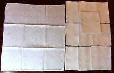 Lot de 11 grandes serviettes damassées 75 x 70 cm à Monogramme brodé VD