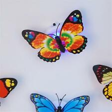 5Pcs Colorful Changing Butterfly LED Night Light Lamp Room Party Wall Decor,fr