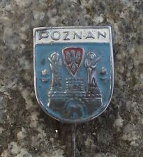 Antique Poznan Polish City Poland Heraldic Crest Official Coat of Arms Pin Badge