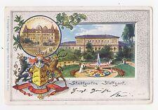 Stuttgart,Germany,Stadtgarten,Stadtwappen,Baden-Wurttemberg,Used,Cannstatt,1900