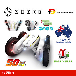DEERC RC Stunt Cars Remote Control Car Toys for Kids 4WD Rotating 360° Vehicles