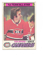 1977-78 O-Pee-Chee #100 Ken Dryden AS1 Montreal Canadiens