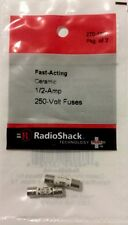 RADIOSHACK Fast-Acting Ceramic 1/2-Amp 250-Volt Fuses #270-1070 NEW (2pack)