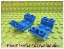 New LEGO Inverted Slopes Lot of 2 Blue 2x4 Part 4871 - Star Wars sets 7171 6206