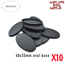Lot of 10 - 60x35mm oval bases for table games