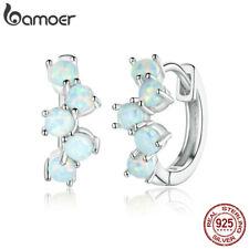 BAMOER Women Retro Stud Earring S925 Sterling silver opal Dreamy Bubbles Jewelry