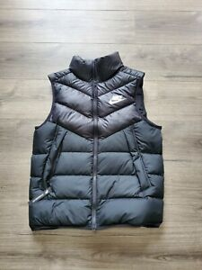 Nike Sportswear Windrunner Down Filled Gilet Vest Black 928859-010 Mens Size Med
