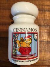 Vintage 1994 Garfield Cat Danbury Mint New Ceramic Pottery Spice Jar CINNAMON