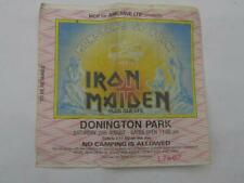 More details for vintage iron maiden donington park used ticket  saturday 20th august