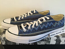 CONVERSE CHUCK TAYLOR CT 70 STUSSY OX US 9 UK 9 42.5 27.5 BLUE TOM TOM PRINT