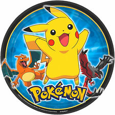 8 POKEMON Pikachu & Friends Children's Birthday Party Large 23cm Paper Plates