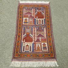 """Afghan Balouch Handwoven Prayer Rug 5'3""""x2'7"""" (160x80cm Persiann Baluchi Beluch)"""