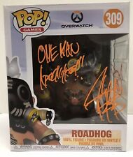 Autographed ROADHOG Overwatch Funko POP #309 Signed By JOSH PETERSDORF