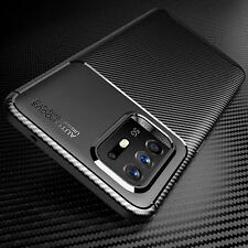 For Oppo A94 5G Case, Slim Carbon Fibre Silicone Gel Shockproof Phone Case Cover