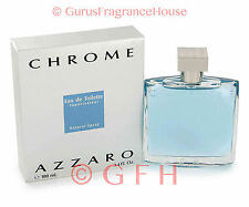 Azzaro Chrome by Loris Azzaro 3.3oz 3.4oz 100ml EDT Spray Mens Cologne Sealed
