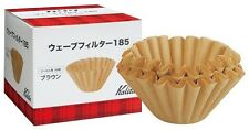 New Kalita Wave Coffee Paper Filter 185 Brown 1 Box (50 pcs) ***FREE SHIPPING***