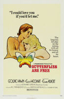 Butterflies are free Goldie Hawn movie poster print