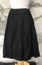 NWOT Max Mara Women's Gray Black Swirls Wool Blend Below Knee Pleated Skirt US 6