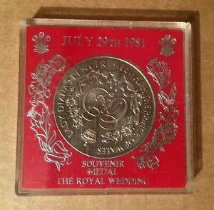 A 1981 Charles and Diana Royal Wedding Souvenir Medal/ Coin in original case.