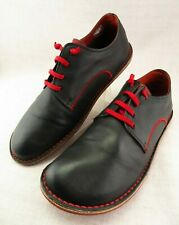 Camper Winter Collection Peu Black Red Stitch Leather Laced Sneaker 45 Men's 12