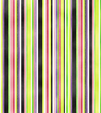 Northcott - Enchanted - Black Multi Stripes Cotton Fabric - 8 yards -Free Ship