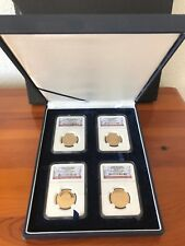 LOT NGC PF69 ULTRA CAMEO First Four Presidents USA with luxury case 4 coins