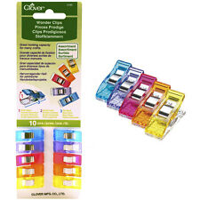 ASSORTED COLORS~SET OF 10 CLOVER WONDER CLIPS~CL 3185~GREAT FOR BINDING