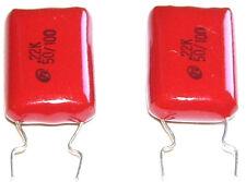 2 Condensateurs NISSEI Mylar NEUFS 220nF - 100V - 0.22uF - 220000pF