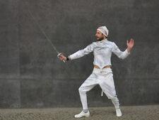 Fechtanzug Kostüm Anzug weiß silber 60er TRUE VINTAGE fencing suit white silver