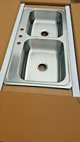 """80-Sink NEW 43""""x22"""" Stainless Kitchen Elkay Appliance Faucet Top mount patio"""