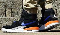 NIKE AIR JORDAN LEGACY 312 - New Men's Hi Top Shoes Black Blue Orange Sneakers
