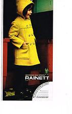 PUBLICITE ADVERTISING 074  1972  RAINETT  manteaux enfants caban
