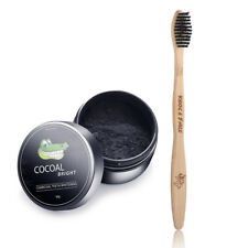 Bamboo Eco Toothbrush & Activated Charcoal Natural Teeth Whitening Powder (30g)