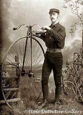 Proud of His Penny Farthing Bicycle - Historic Photo Print