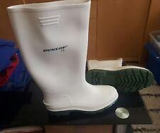 Dunlop 380BV Pricemaster white non-safety wellington boot size uk9 eu43