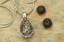 Essential Oil Diffuser Aromatherapy Necklace Teardrop Pendant with Chain