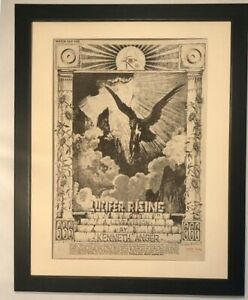 LUCIFER RISING*Kenneth Anger*Movie*1976*ORIGINAL*POSTER*AD*FRAMED*FAST SHIPPING