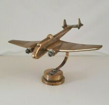 More details for trench art wwii raf bomber aeroplane, plane aircraft. brass , good weight