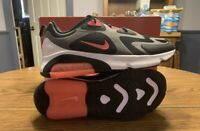 Mens Nike Air Max 200 AQ2568-005 Thunder Grey/Hot Punch-Black New Size 11