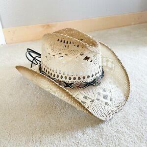 Austin Handmade Hats Size XL XLarge Tan Straw Amazonas Western Summer Hat New