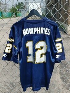 Vtg 1995 Starter NFL Chargers Stan Humphries Made in USA Jersey Size (L)