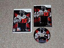 WWE '13 Nintendo Wii Complete Wrestling
