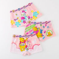 6 Pack Girls Disney Winnie Cotton Shorts Boyleg Underwear size 2-10