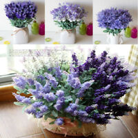 10 Heads Artificial Lavender Bouquet Fake Flowers Wedding Party Home Decoration
